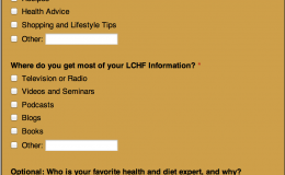 Low-Carb High-Fat Diet Reader Survey