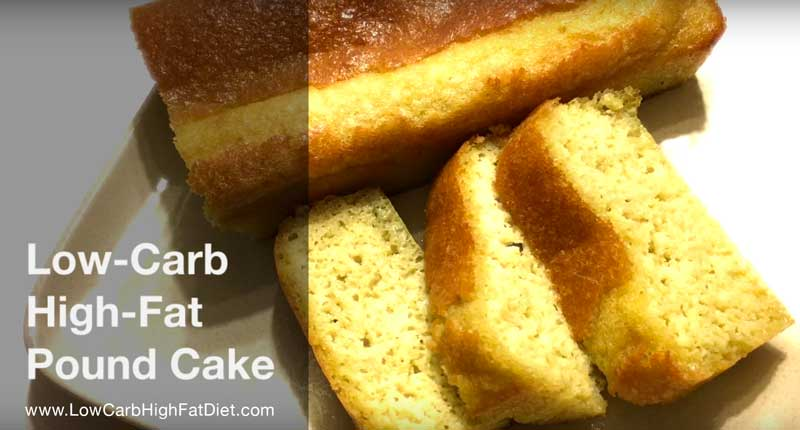 Low Carb Pound Cake Recipes: Lemon Pound Cake For Low-Carb High-Fat Diets